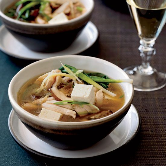 Chicken Hot Pot with Mushrooms and Tofu // More Tasty Dishes with Mushrooms: www.foodandwine.c... #foodandwine