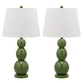 Jayne Table Lamp in Fern Green (Set of 2)