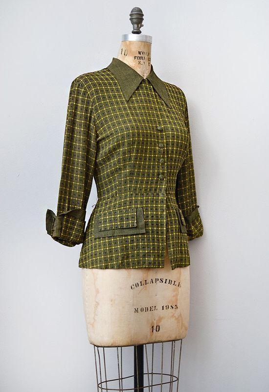 vintage 1940s blazer / 1940s vintage jacket / 40s vintage jacket / Hayworth Blazer