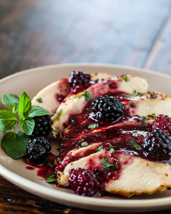 Grilled Chicken with Blackberry Sweet and Sour Sauce