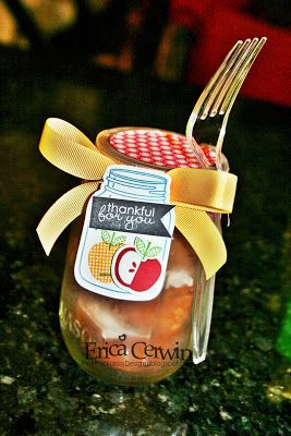 Teacher Appreciation Cipcakes in a Jar featuring Perfectly Preserved and Banner Greeting Stamps