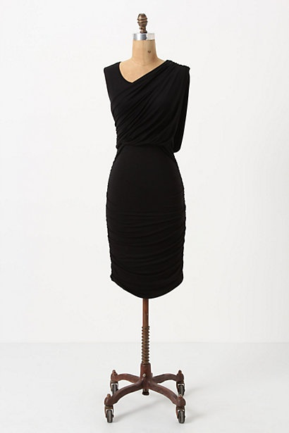 Ruched & Draped Column Dress / Anthropologie #anthropologie