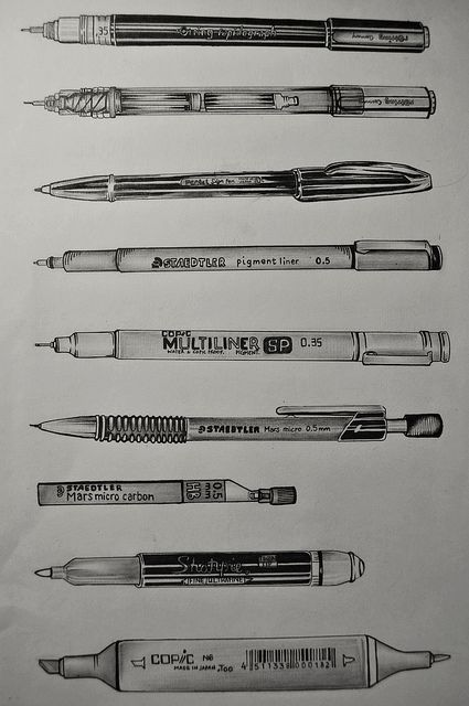 OBSERVATION OF DRAWING TOOLS; INK AND PENCIL