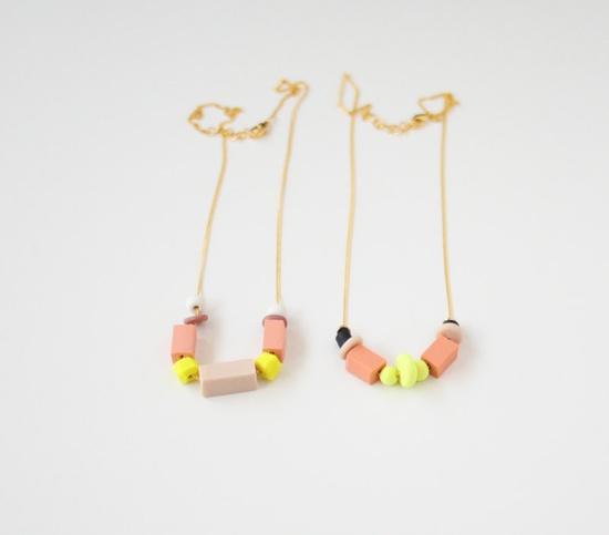 OOAK pastel mixed bead necklace no. 12