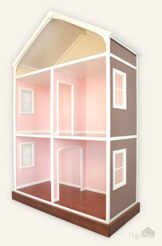 Three Story Dollhouse for American Girl Dolls & Other 18 Inch Dolls