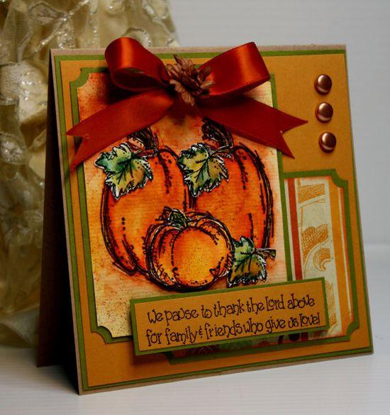 Thanksgiving Card   Fall Autumn Card