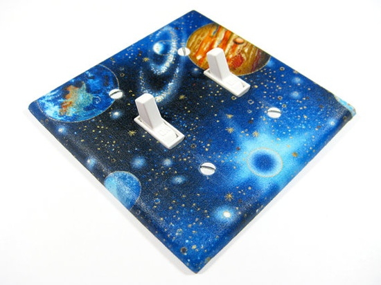 MADE WHEN ORDERED Outer Space Galaxy Double Light by ModernSwitch, $10.00