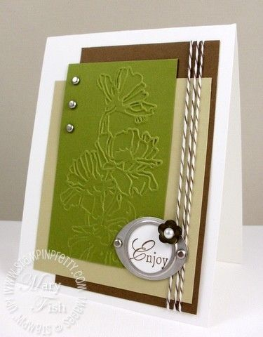 Good use of embossing folder