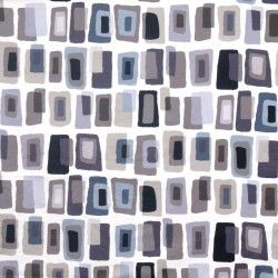 Amy Lau for S. Harris Fabric - Waterblocks - Contrast #funky #interior #decor #squares #geometric #grey