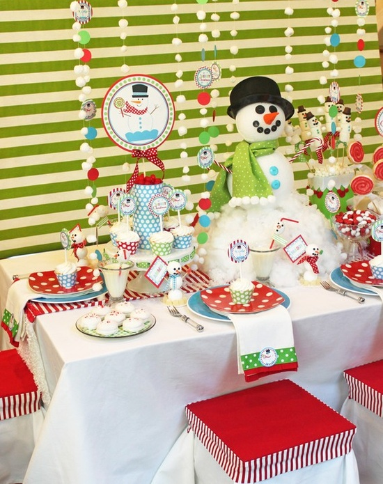 Cutest snowman party ever! Can buy a bunch of these printables on etsy from shindigparties.