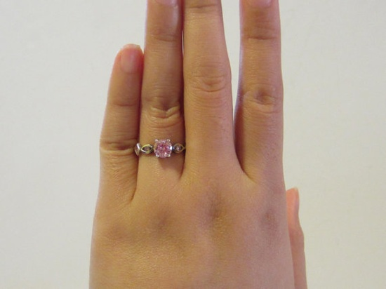 Sterling silver 925 Pink Topaz ring size 6 by VoVoMarble on Etsy, $15.50