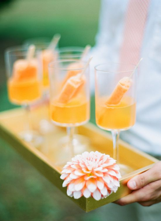 Orange popsicle cocktails