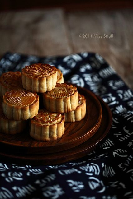 Asian food Chinese sweet mooncake