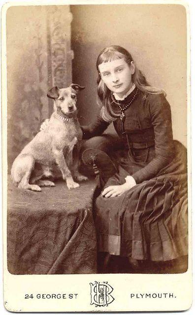 *Girl and her dog...Libby Hall Collection