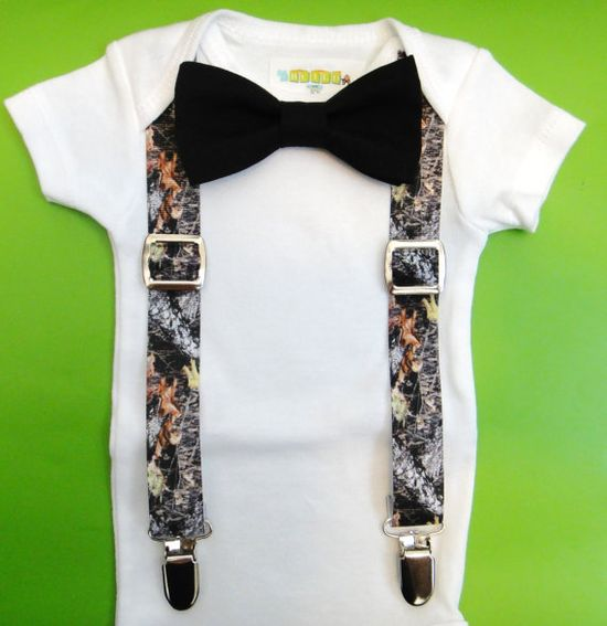 Baby Boy Clothes - Baby Real Tree Camouflage Suspenders - Real Tree Hunting Camo Baby Outfit - Camo Suspender Baby - Baby Hunting Bodysuit on Etsy, $19.00