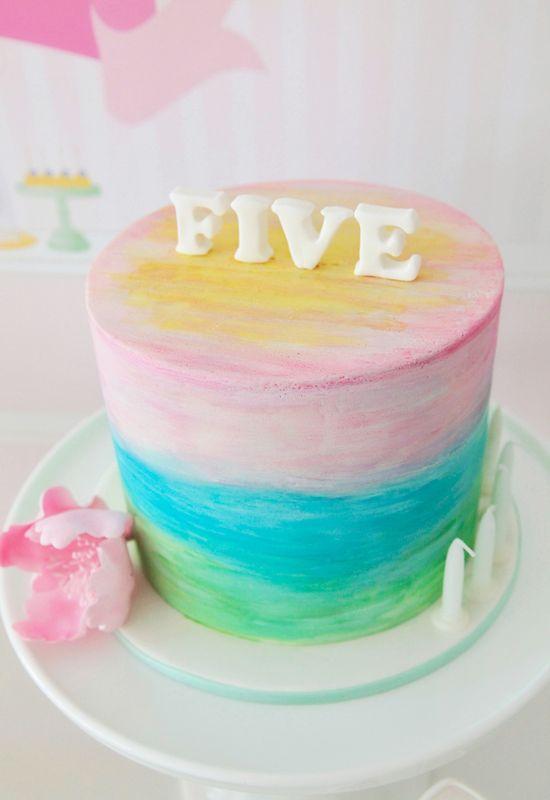 Multi color ombre Cake