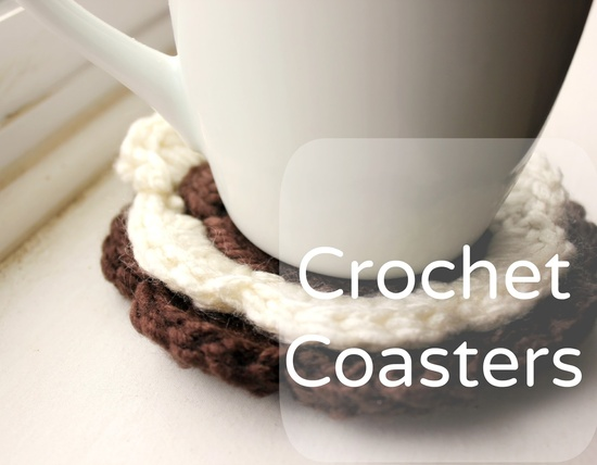 Crochet Flower Coasters (great for using up yarn scraps!)