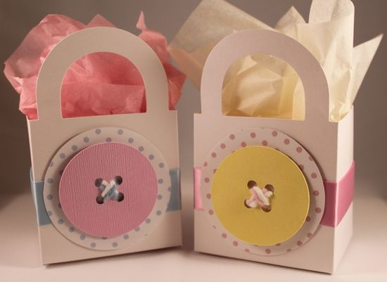 cute as a button gift or Favor baggies