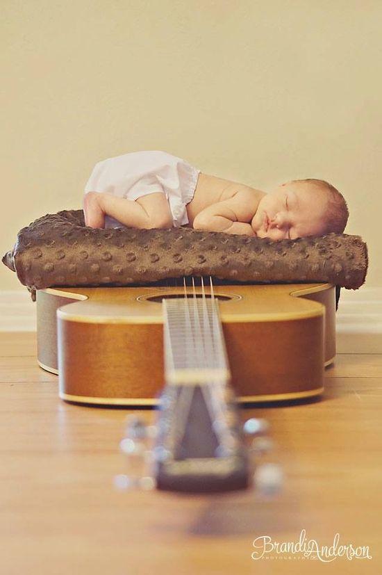 #guitar #newborn photography