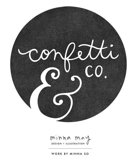 confetti & co logo design by @minna so