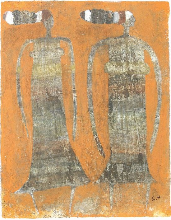 """Saatchi Online Artist: Scott Bergey; Mixed Media 2013 Painting """"Neither Here Nor There"""""""