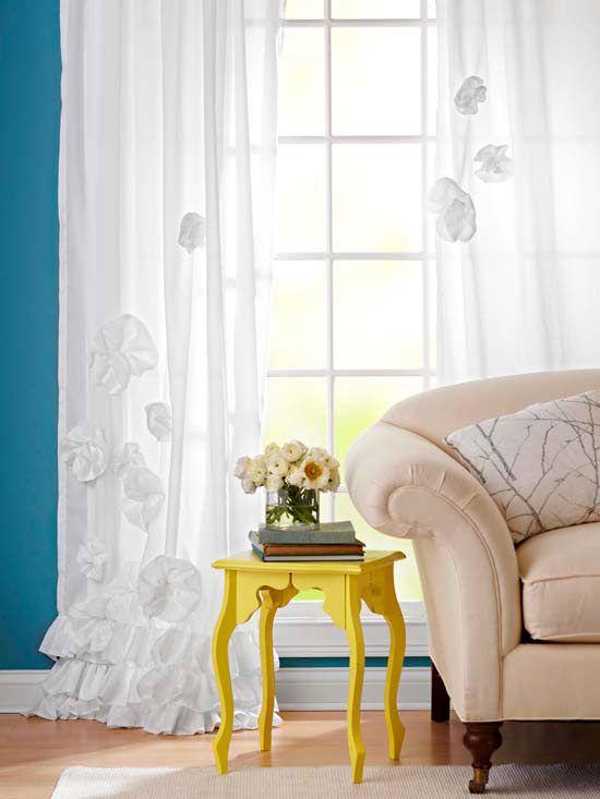 DIY Ruffled Curtains