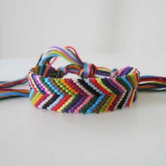 Wildflower  Woven Wish Bracelet Friendship Bracelet by SlyRaven, $15.00