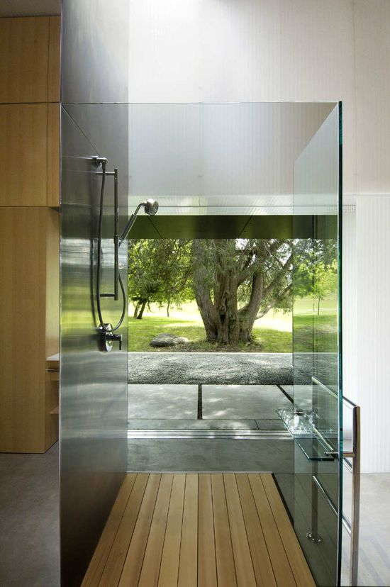 *modern interiors, bathrooms* - Linear House by Patkau Architects