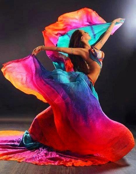 colorfull wings of belly dance