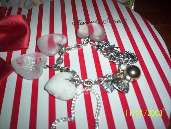handmade charm bracelet. love :)