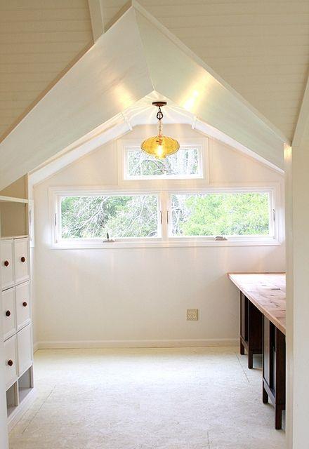 Beautiful attic work space