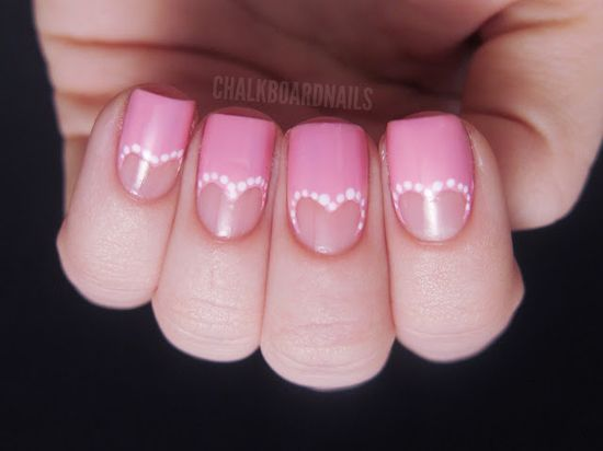 Heart cutout nail art