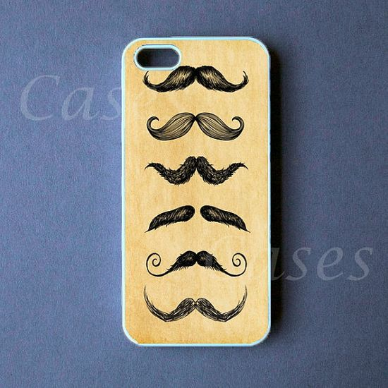 Iphone 5 Case  Vintage Mustache Iphone 5 Cover   PRE by DzinerCase, $16.99
