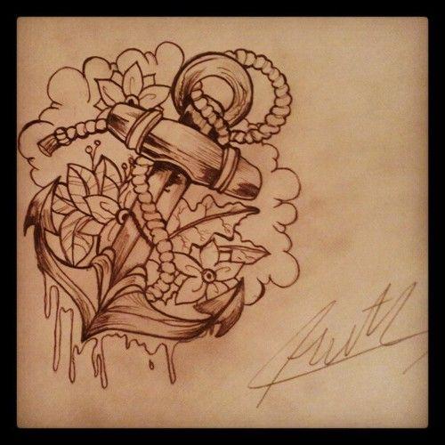 Anchor tattoo design. #tattoo #tattoos #ink