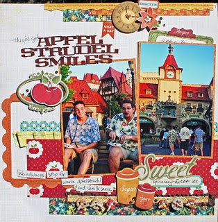 #papercraft #scrapbook #layout #Disney Main Street