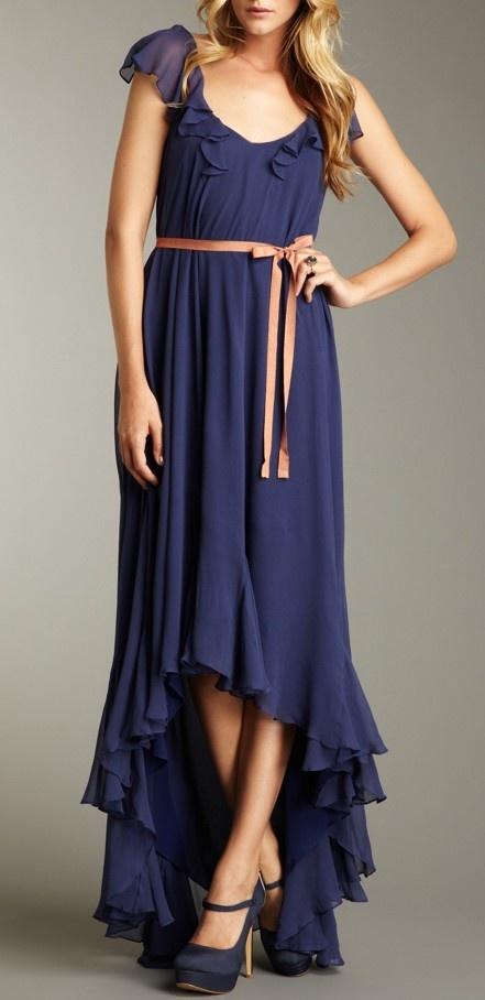 Ruffled Maxi Dress / elizabeth + james