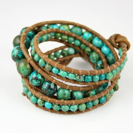 Turquoise and cord