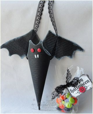 Bat Cone Candy Holder