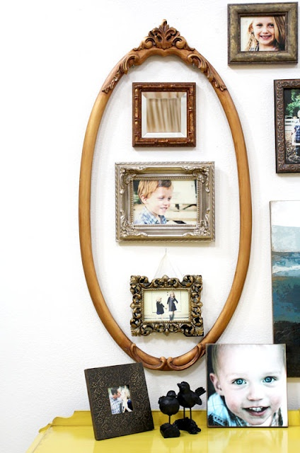 Love this idea!  Would use different frames, but love the idea...