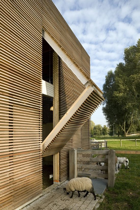 Petting farm in den Uylpark, Almere, 2005  by 70F architecture #architecture #archilovers #farm #facade #wood