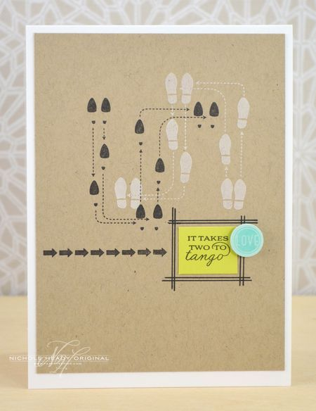 Two To Tango Card by Nichole Heady for Papertrey Ink (November 2013)