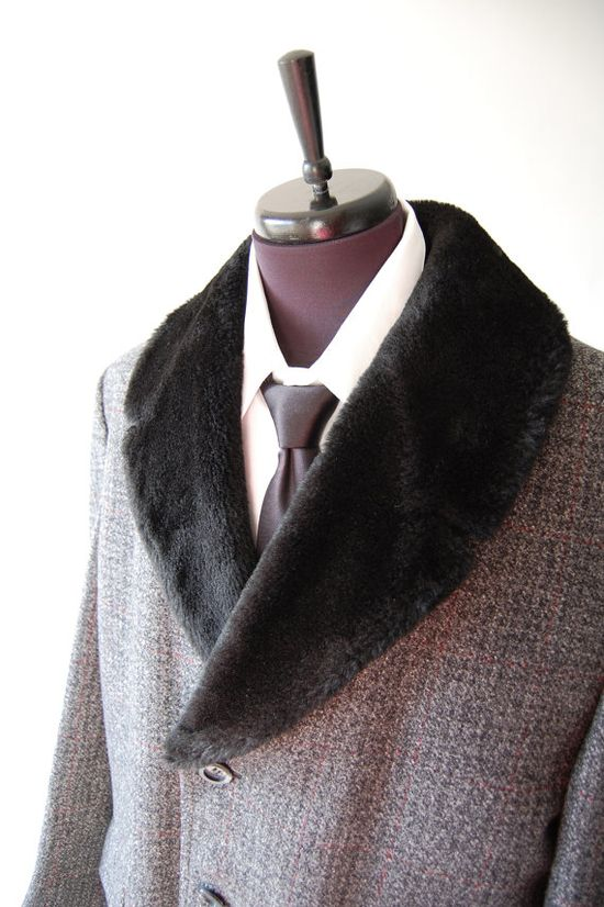 Mens Vintage Wool Coat -- Louis Vuitton bringing it back this F/W 2013/14