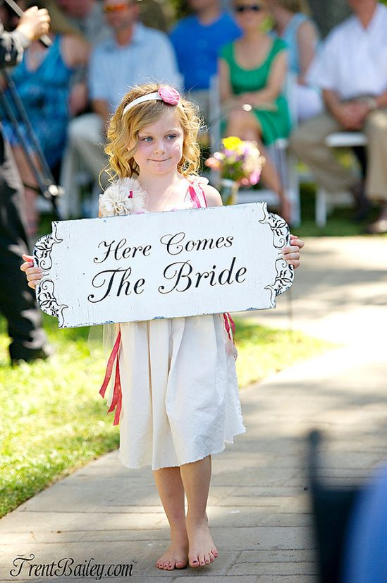 Here comes the Bride wedding sign.