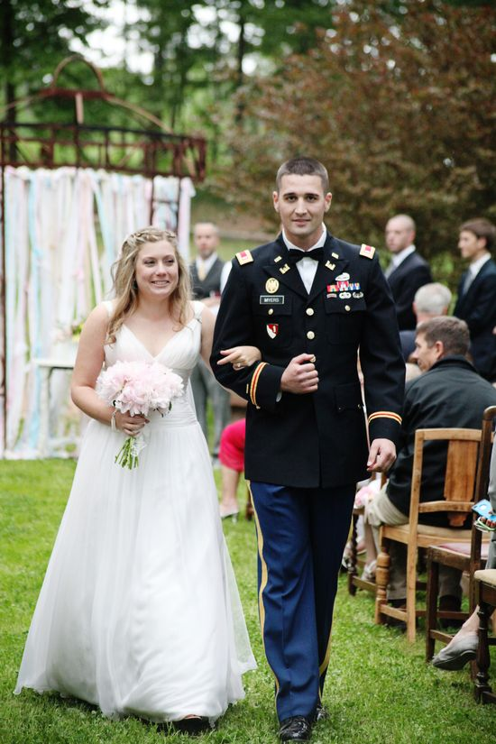 Groom West Point Army Officer - Military wedding- Vintage Styled Wedding