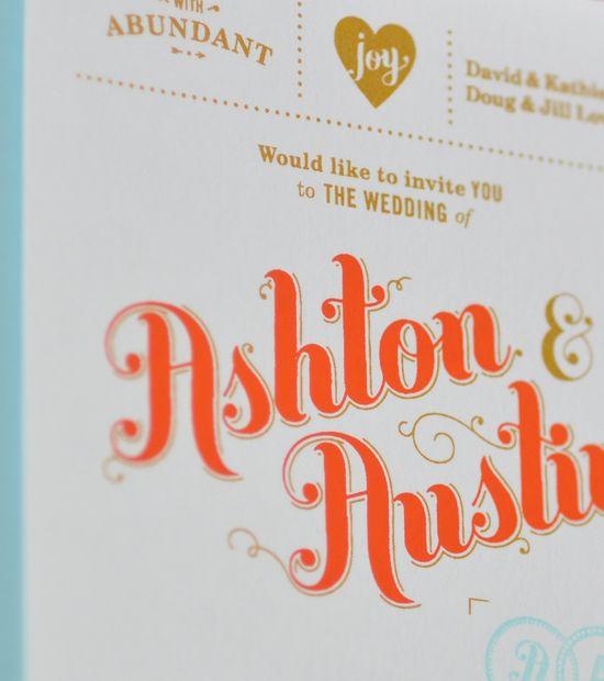 Type graphic design invite