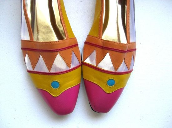 Colourful Leather Flats
