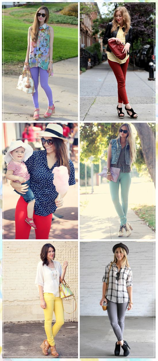 our favorite bloggers creatively styling their colored denim for #summer