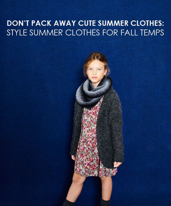 style kids summer clothes for fall temps