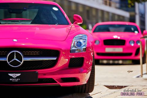 Mercedes Benz & Bentley Pink  ? Girly Cars for Female Drivers! Love Pink Cars ? It's the dream car for every girl ALL THINGS PINK!
