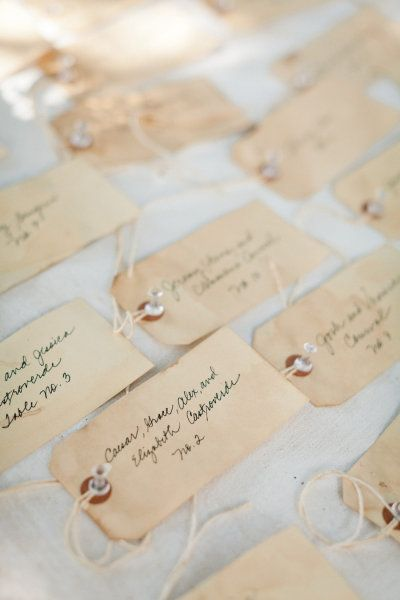 Escort Cards - Simple and to the point!